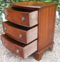 SOLD Small Mahogany Bowfront Chest of Drawers